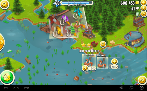 Hay Day Hints for Fishing lures