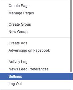 Settings Facebook