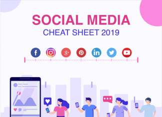 Social Media Image Dimensions Cheat Sheet 2019 [Infographics]